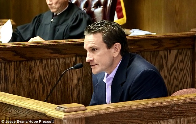 Heart broken: Mrs Nevil's husband Steve also spoke at the hearing last week, saying that his heart 'literally feels as though it is broken in half'
