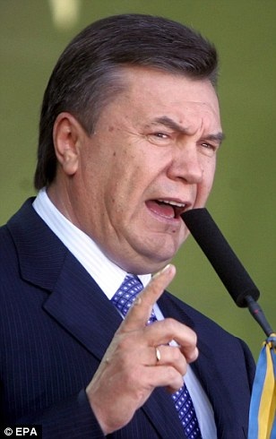 Ukrainian President Viktor Yanukovich was accused of selling out to Moscow