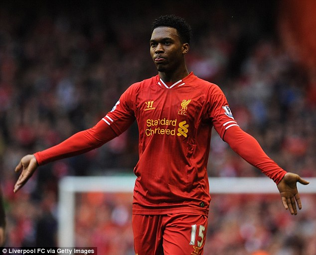Bring it on: Daniel Sturridge has controversially claimed that Liverpool are bigger than Chelsea