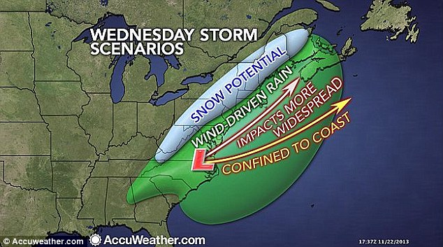 Predictions: Forecasters are warning Thanksgiving travelers to beware, as a sweeping winter storm system could bring icy roads, flight delays and more headaches to the holiday next week