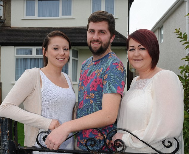 On the property ladder: Natasha Capel, Jason Ford and Hannah Capel share the mortgage