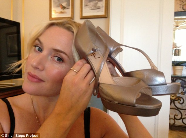 Charity: Kate Winslett has donated a pair of YSL shoes as part of the Small Steps Project