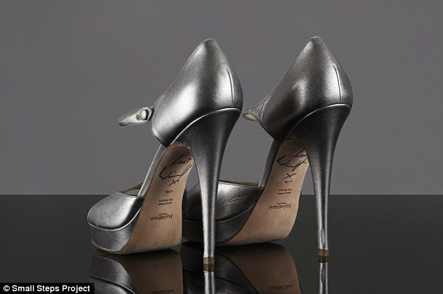 Memorabilia: The actress has signed the bottom of her beloved YSL heels