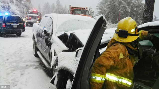 Delays: Snow in New Mexico and Arizona prompted some schools to delay opening Friday. Interstate 25 and roads throughout northern New Mexico were icy and packed with snow. More snow is expected Saturday