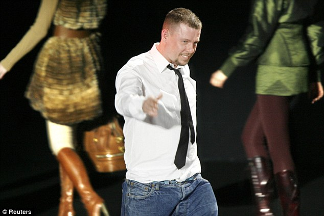 Mr McQueen pictured at one of his shows in 2007: His brother Michael said that he felt Mr McQueen's head was turned by fame, but end the end realised that it was all rather false
