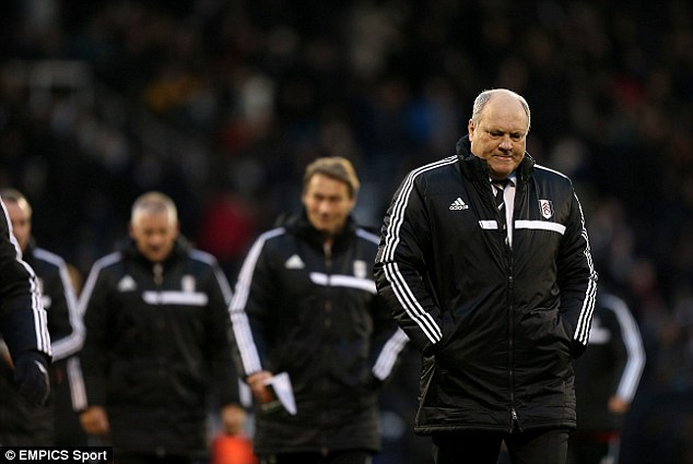 Resounding: Fulham boss Martin Jol was booed off at the end of the match and heard chants of 'Jol Out'