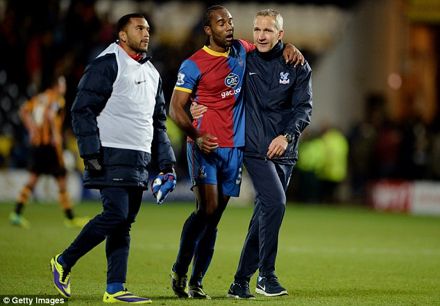 Moving up: Jerome, who has been playing second fiddle to Chamakh, will get more game time under Tony Pulis