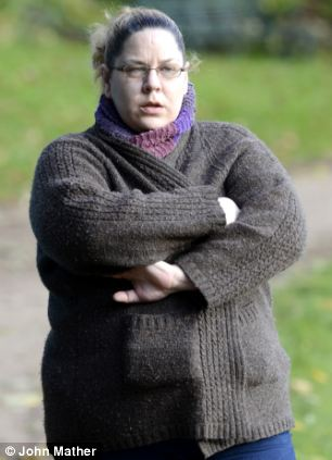 Free: Tracey Connelly seen taking a stroll in the park weeks after being released on parole from a prison in Cumbria