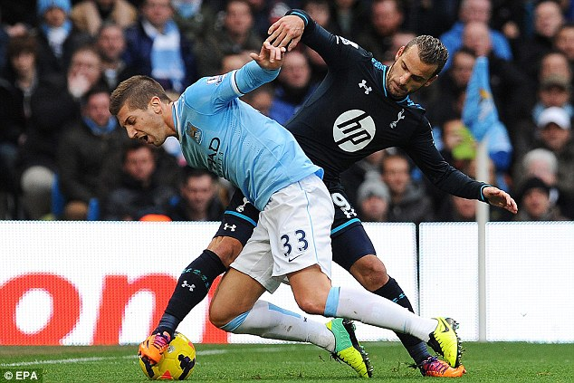 Off target: Roberto Soldado failed to get his name on the scoresheet as Tottenham were soundly beaten