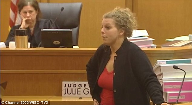 He's a simple man: Defense attorney Jessa Nicholson tried to convince the jury her client didn't have the smarts to mastermind the torture - they didn't bite