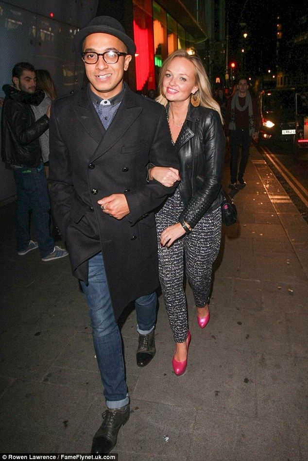 Stylish pair: Emma and Jade enjoyed a rare date night out in London in November
