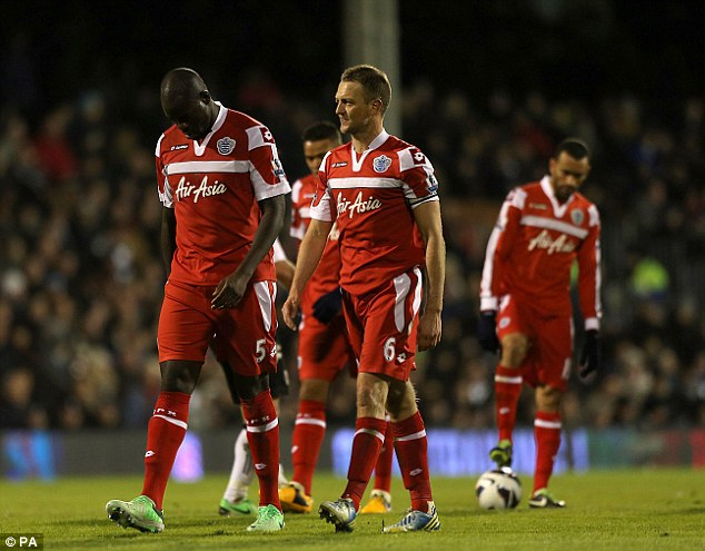 Misery: QPR were relegated after a dismal 2012/13 campaign in the Premier League