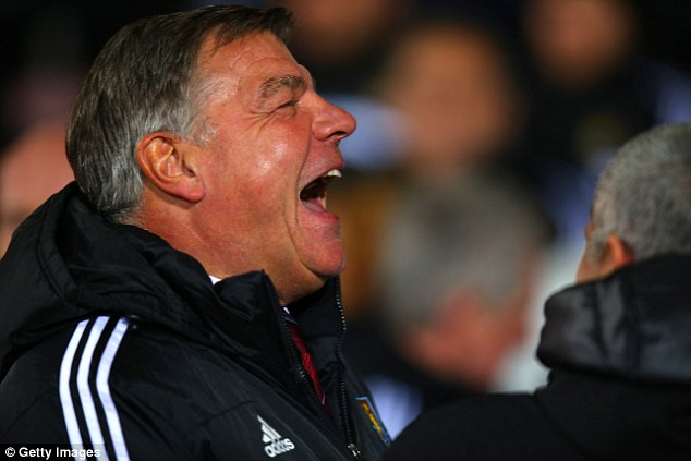 No laughing matter: Sam Allardyce must be concerned about his team's slide down the table