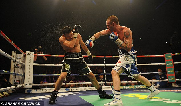 Classy operator: George Groves' (right) superior speed and movement confused Carl Froch throughout