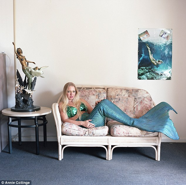 Rare glimpse: The exhibition shows images of the women living at mermaids