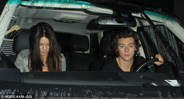 Date night: Kendall Jenner and Harr Styles were seen heading out for dinner together on Wednesday night in West Hollywood sparking rumours of a potential romance