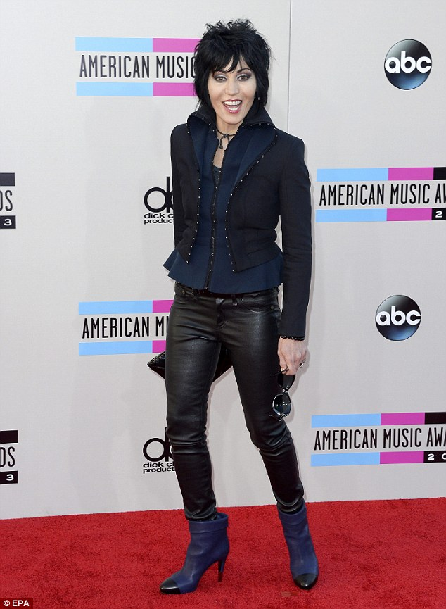 Bad Reputation! Joan Jett, 55, looked glam as she arrived at the AMAs in Los Angeles  to present an award on Sunday night