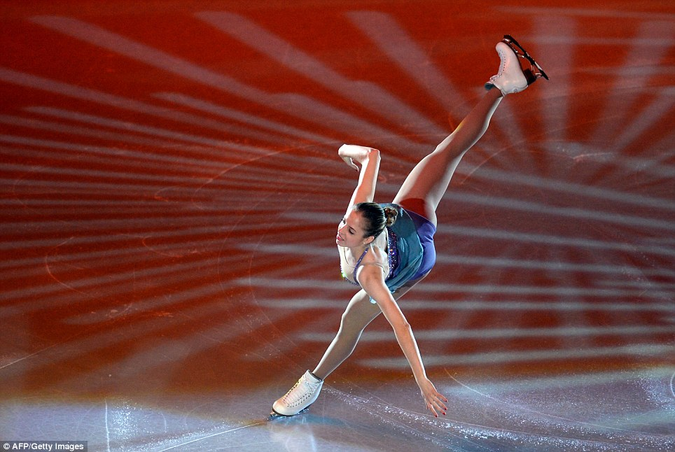 Italy's Carolina Kostner performs during the gala exhibition of the ISU Grand Prix of Figure Skating tournament in Moscow