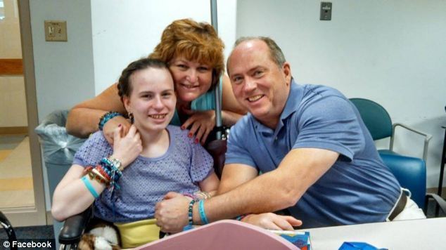 The family are only able to visit 15-year-old Justina at the hospital (pictured) for one hour every week, and can speak only twice a week on the phone for 20 minutes at a time