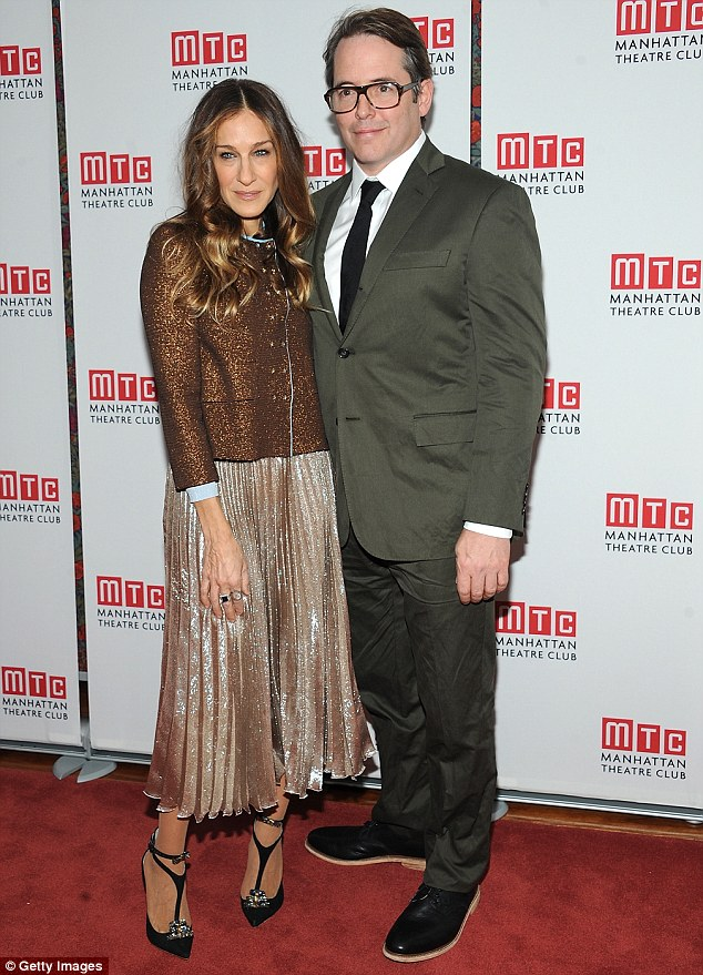 Opening night: Sarah and Matthew attend the The Commons Of Pensacola opening night after party in New York last week