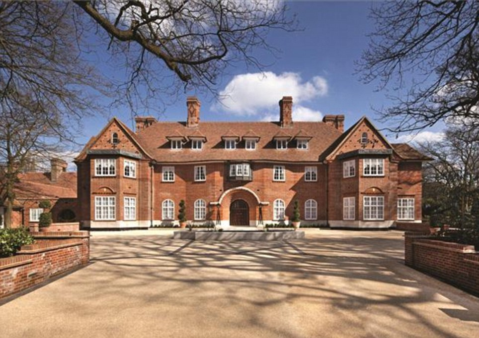 I'm just going downstairs to the cinema: Heath Hall in The Bishops Avenue has 15 bedrooms and is on the market for £65million