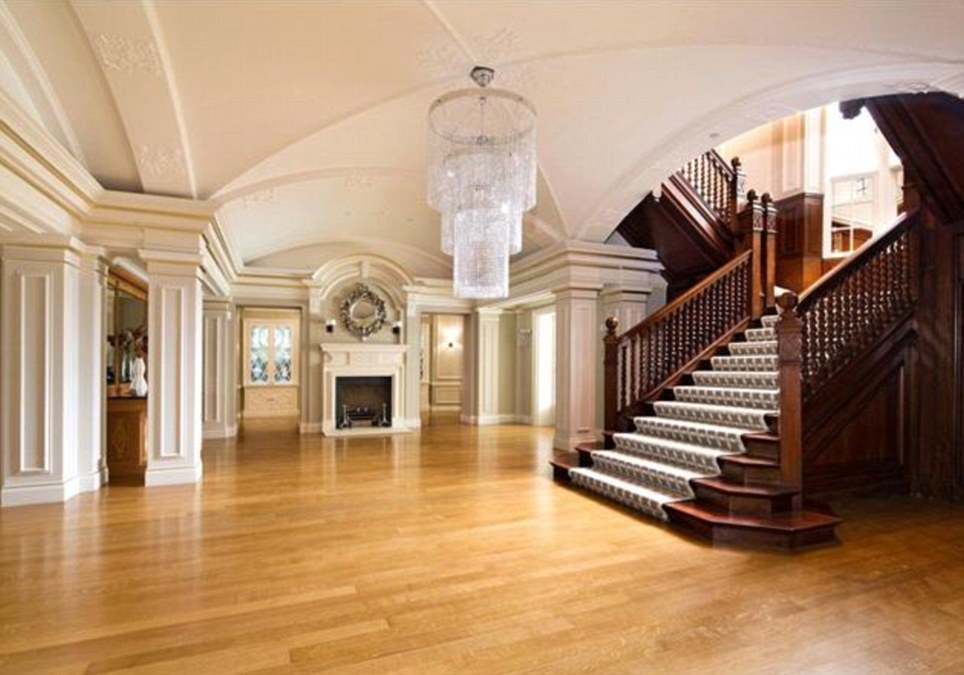 Hall: The home was thoroughly restored by property tycoon Andreas Panayiotou but its original asking price was slashed by £35million