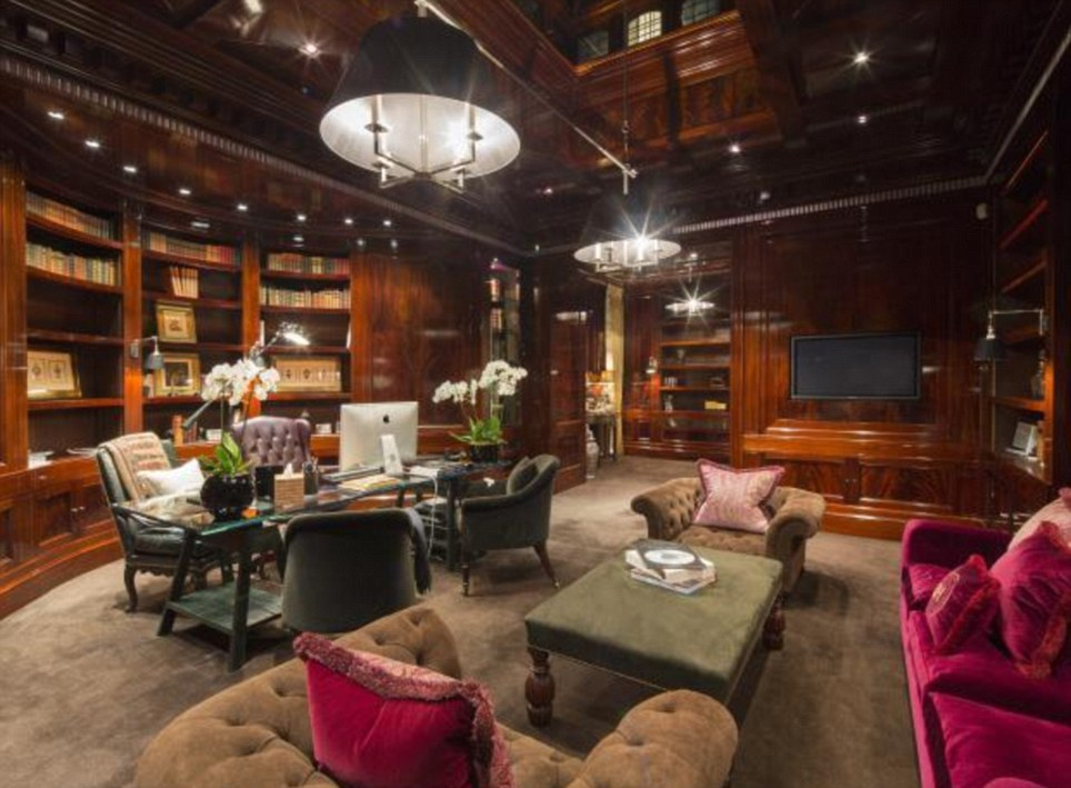 Homely: Relax in this millionaire's mansion in Hampstead which has an asking price of £49million - just enough to keep you from blowing that £50million budget