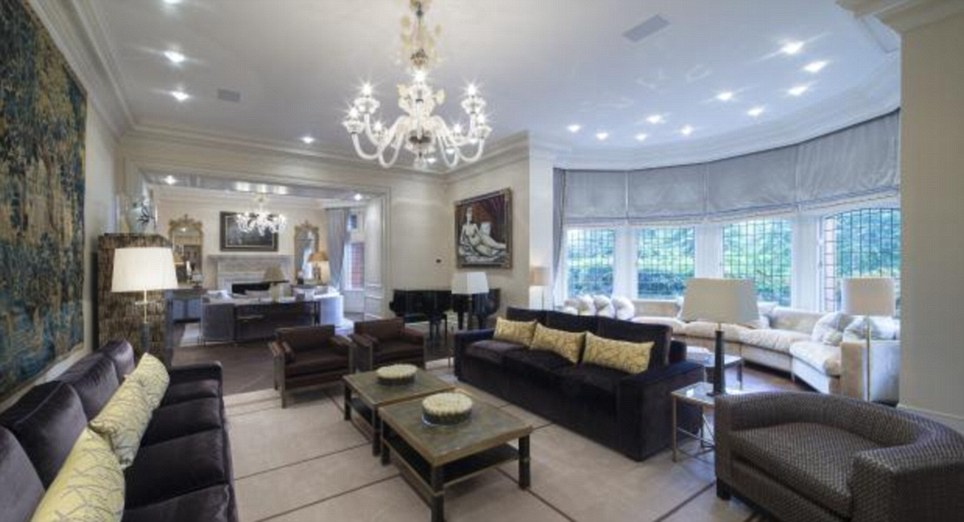Palatial: Hampstead in north-London is known for its grand mansions which come with a millionaire's price tag
