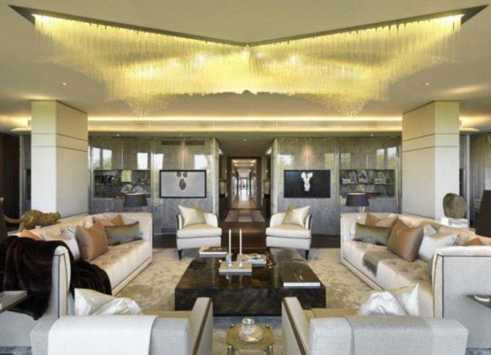 Plush: For £68million you could buy this luxury flat which comes with two wings in London's Knightsbridge