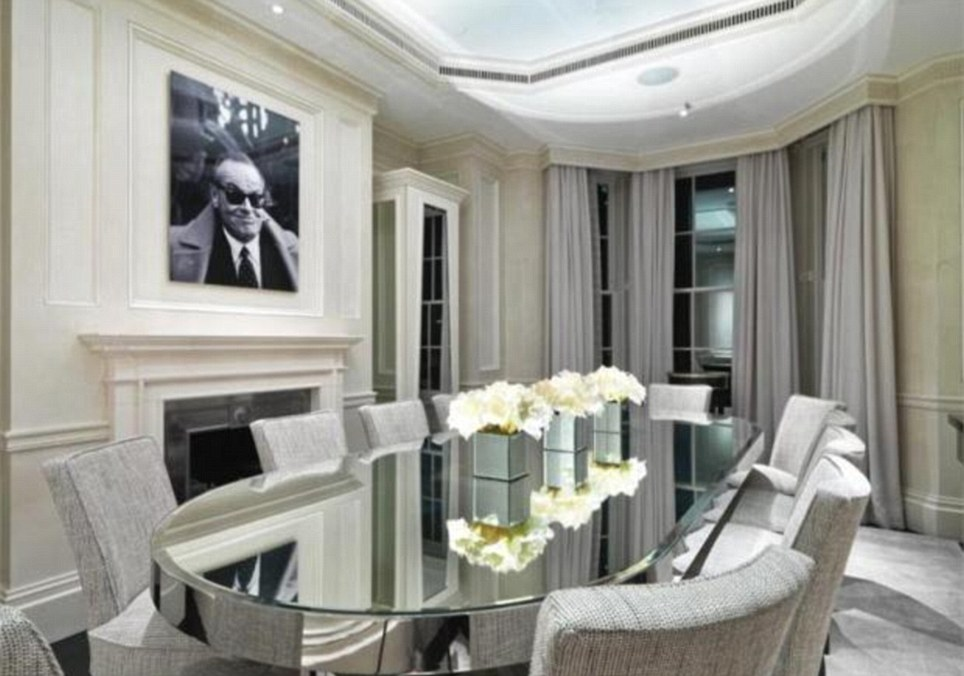 St John's Wood: A Jack Nicholson print hangs over a fireplace in this luxury abode in north-west London