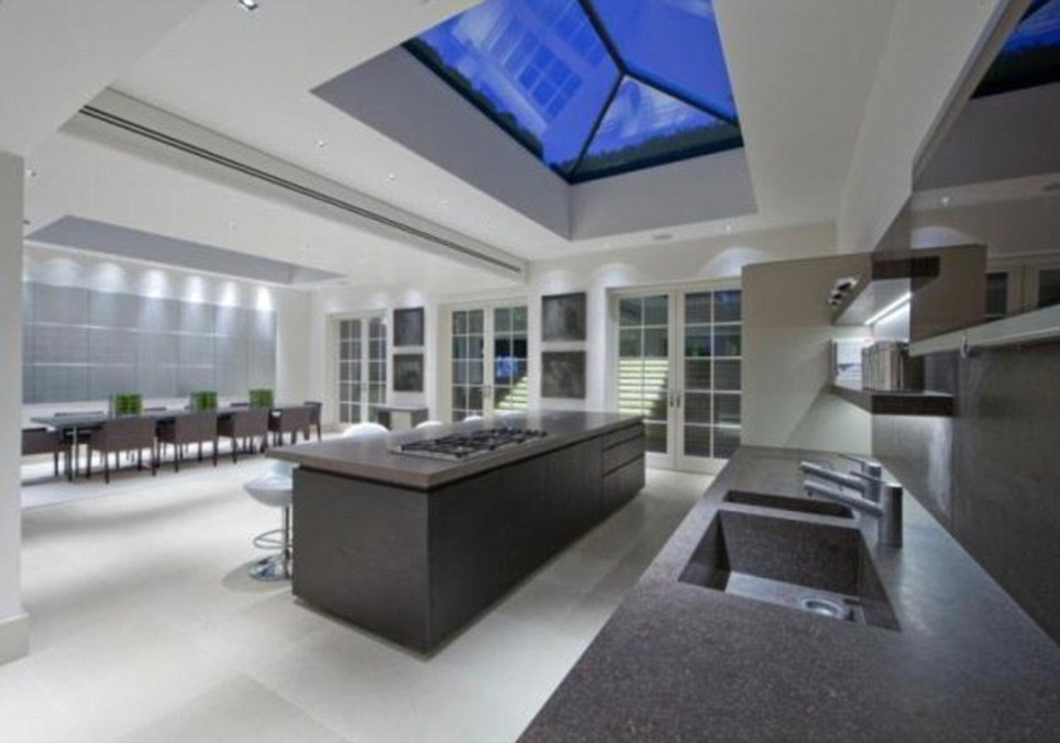 Too many cooks wouldn't spoil the broth in this kitchen which is big enough for a dozen. The property is on the market for £37.5million in St John's Wood