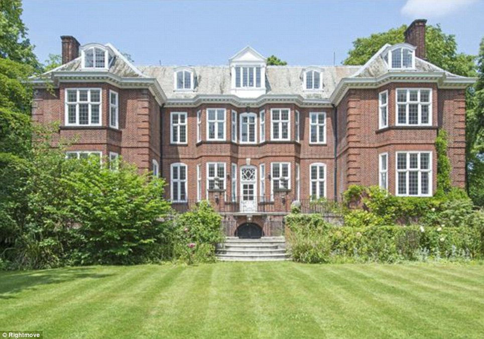 The property in Holland Park has nine bedrooms and planning permission for a number of features including a staff cottage and tennis court