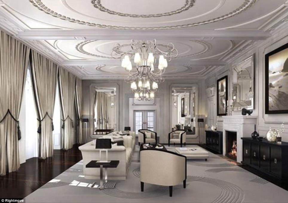 Computer generated images show the interior of this £65 million home in Holland Park, west London