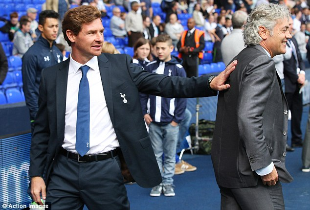 Isolated: Andre Villas-Boas' relationship with technical director Franco Baldini (right) has cooled recently
