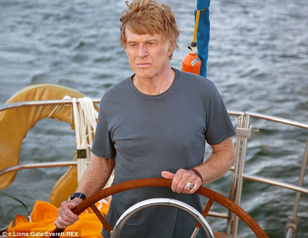 In the running: Director J.C. Chandor's All Is Lost is up for best picture, director and actor with Robert Redford starring in the almost wordless seafaring drama