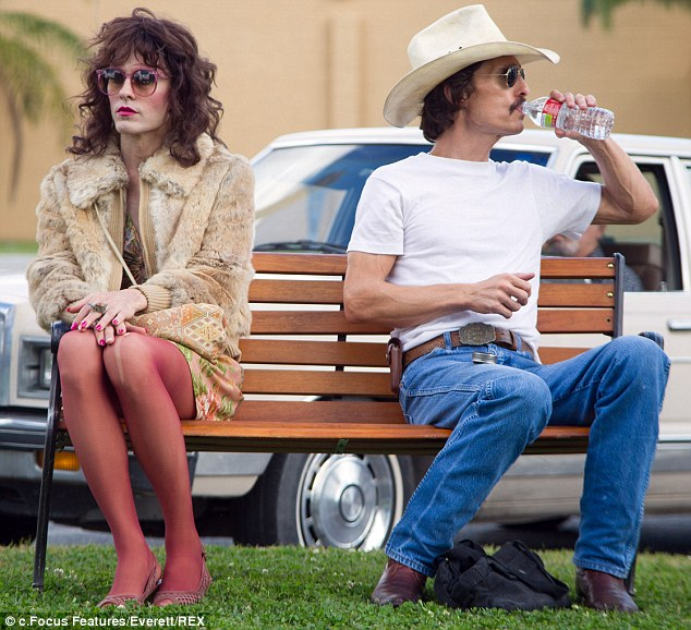 In the club: Matthew McConaughey, who is in the running for best actor at the Indie Spirits, has also been generating a lot of Oscar buzz for his performance in The Dallas Buyers Club