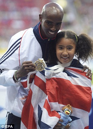 At the double: Mo Farah won the 5,000 and 10,000 metres title at Moscow this summer