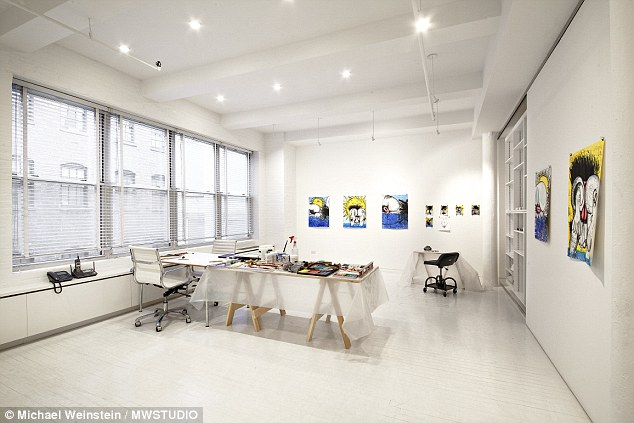 Blank canvas: Dunham's father, a painter, uses the above space for  work