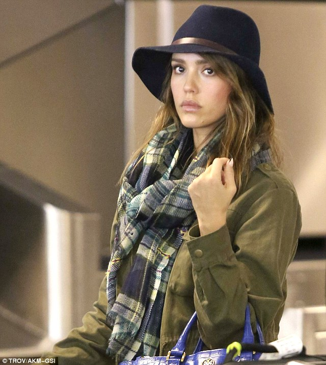 Still fresh: Jessica looked great coming off her cross-country flight