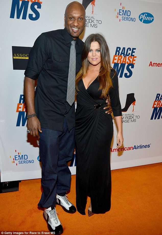 Multicultural family: Khloe has been married to troubled NBA star Lamar Odom since 2009