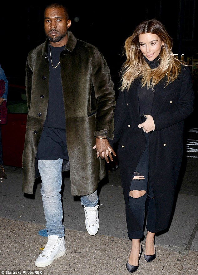 Retail therapy: Kim and Kanye's appearance comes as the Yeezus star urged the whole of New York City to boycott the Louis Vuitton label