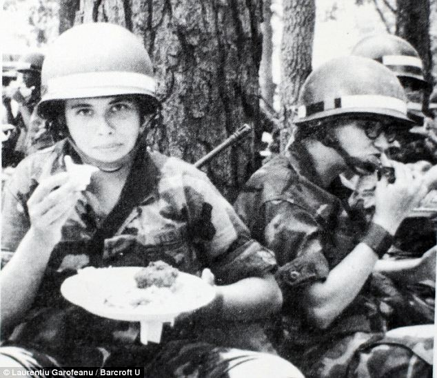 In the army: Mark as Maritza on an army training excercise in Stewart, Georgia in 1982
