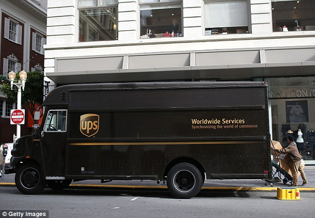 Casual encounter: The sexual episode seemed to occur inside the back of a UPS delivery truck in the Oklahoma City area