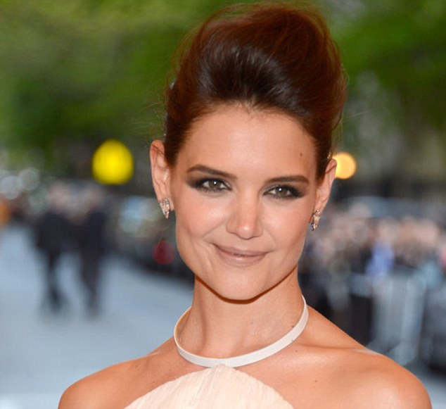 Up do: This is a red carpet look that depends on hold and hairspray a la Katie Holmes at the Met Gala red carpet this year