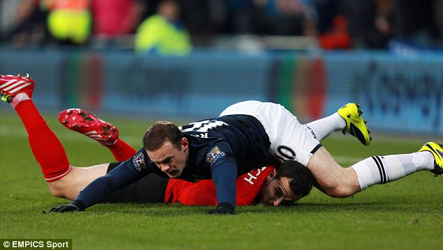 Hot head: The red mist has descended on Rooney more times than most
