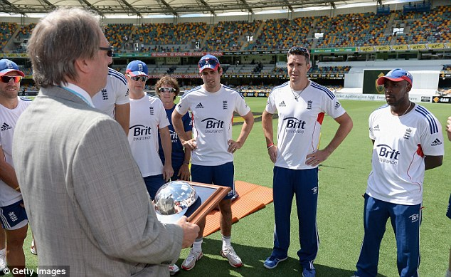 Concern: ECB chairman Giles Clarke (left) is set to express his worries when he meets with Cricket Australia