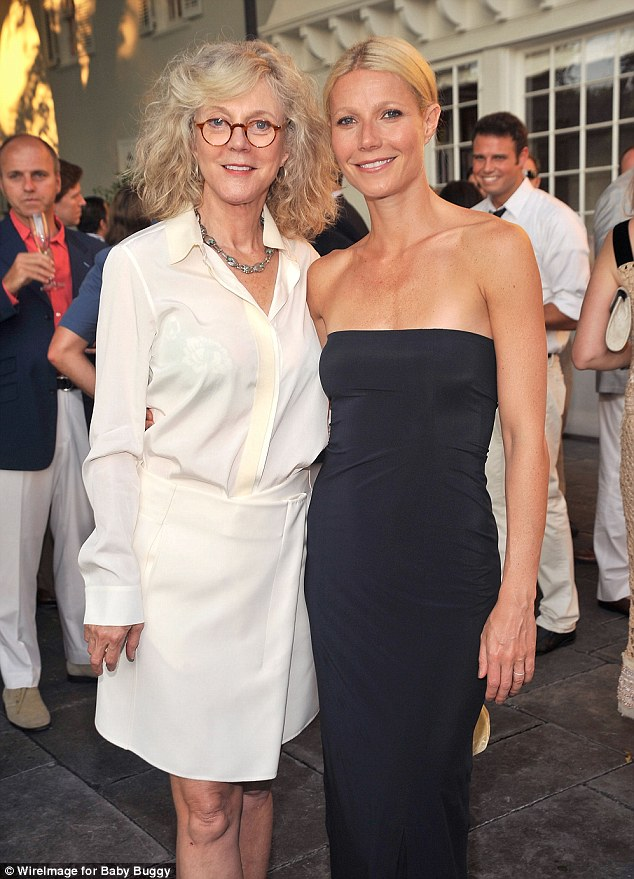 Mama bear: Blythe Danner recently blasted critics of her daughter Gwyneth Paltrow, pictured together in 2011 in East Hampton, NY