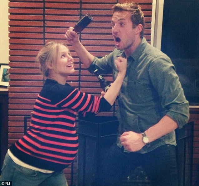 Love and fight scenes: Kristen shared a fake fight scene photo in March on Twitter featuring herself and friend Ryan Hansen