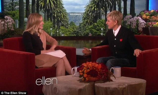 Funny story: Ellen got a kick out of Kristen's wedding story