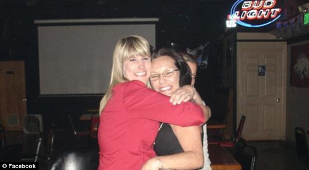 Suspicious: Patty Hathaway (right) said that shortly after Natzke's disappearance, she had received an odd text message from her friend's phone, which led her to believe the sender was not Dawna